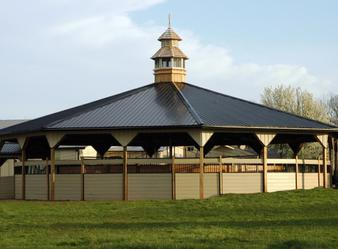 Covered Free Style Walker at Jane Nordstrom Training LLC at Stone Gate Stables.